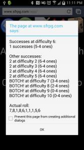 New Dice Rolls for App!